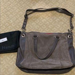 f8761fc61ebc Hammit leather   suede shoulder   crossbody bag